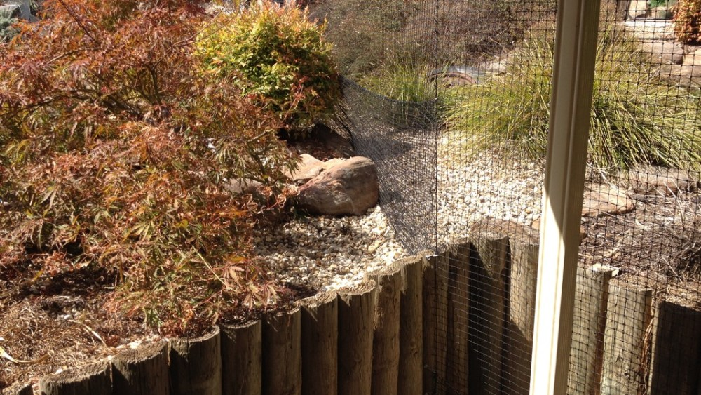Snakeproof cat enclosure