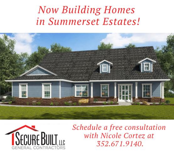 Now Building in Summerset Estates