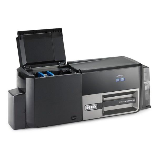 DTC5500LMX ID Card Printer and Laminator slant