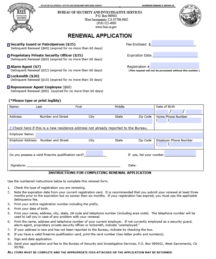 California Guard Card Renewal Poemview