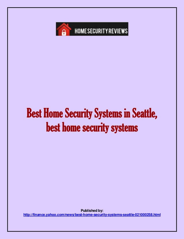 Top Ten Home Security Systems