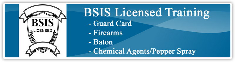 Armed Security Guard Card California