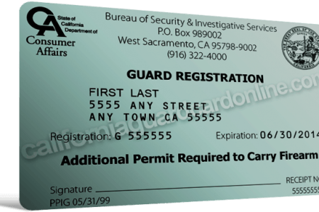 security guard registration card » Free Resume 2018 | Free Resume