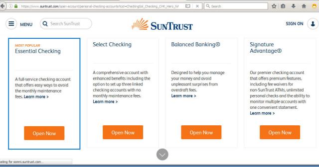 Opening a Suntrust Bank Account