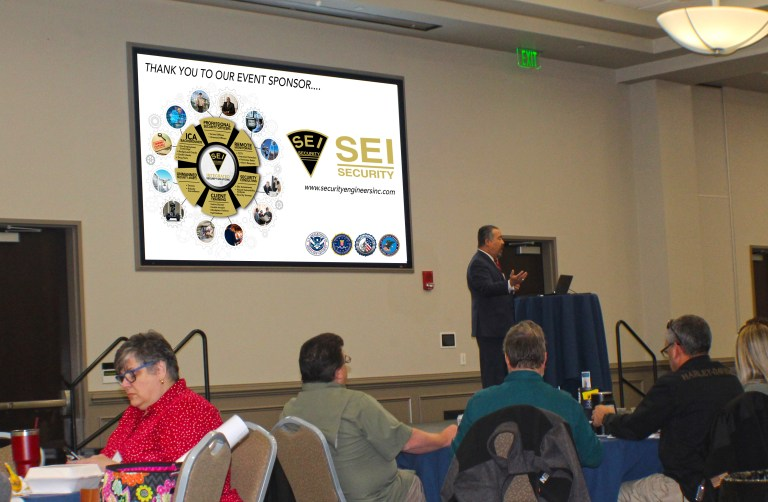 Local FBI agents speak at the Security Engineers, Inc. sponsored workshop Protecting Houses of Worship: Active Shooter & Violent Crimes Preparedness.