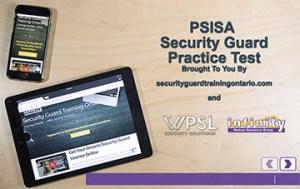 Securityguardtrainingontario.com online practice test.
