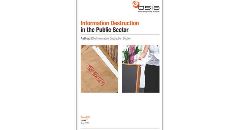 BSIA Public Sector Guide on Information Destruction