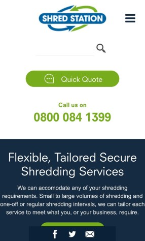 New website for secure shredding experts Shred Station