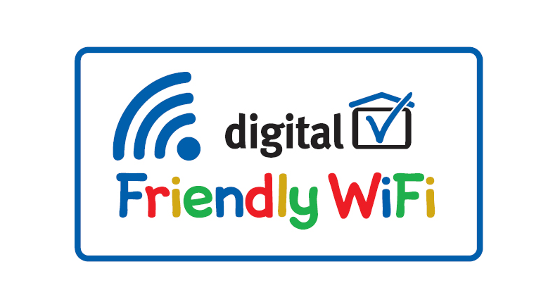 'Friendly WiFi' 'Approved Provider' supporting the initiative