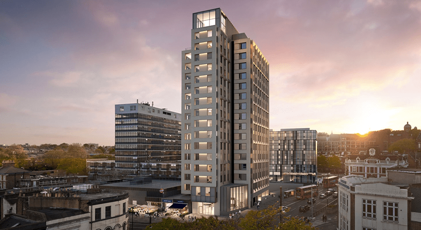 Comelit's ViP system towering above Highgate Hill
