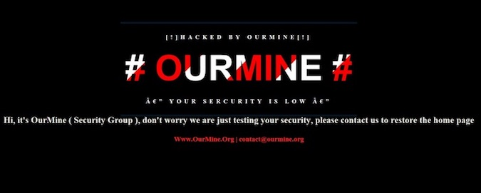 OurMine defacement of Unity forum