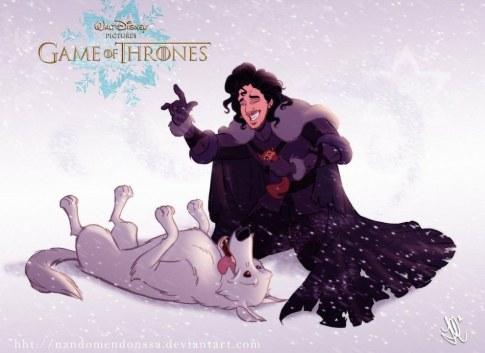 Jon Snow e o Fantasma