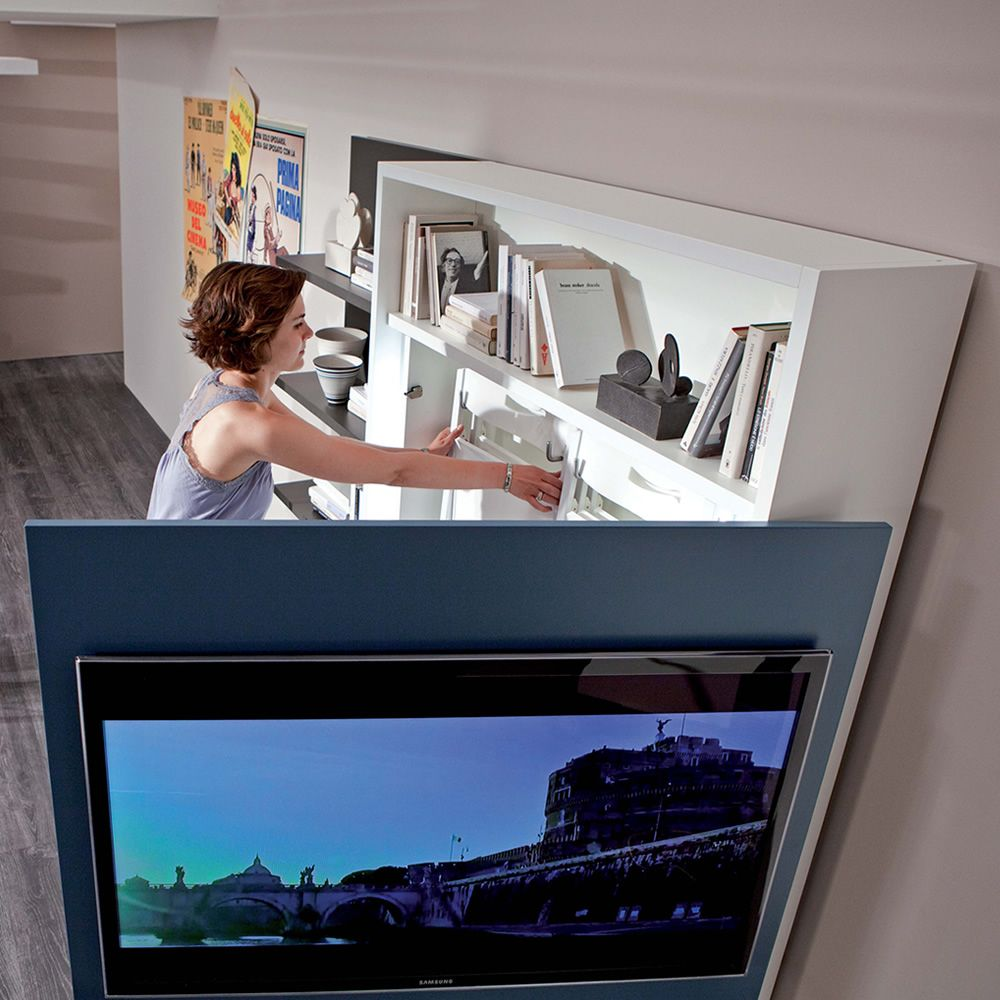 Smart Living L Paroi Moderne De Sjour En Bois Quipe