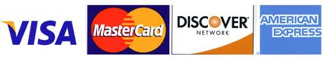 We accept Mastercard, VISA cards