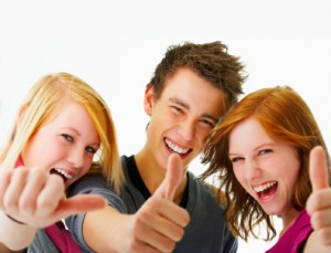 Adolescents confiants