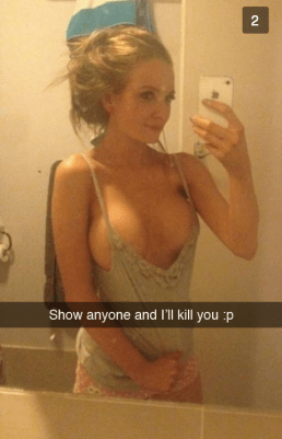 Boobs and snapchat