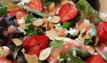 Strawberry Salad with Homemade Vinaigrette