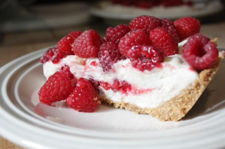 Raspberry Marshamallow Cream Pie