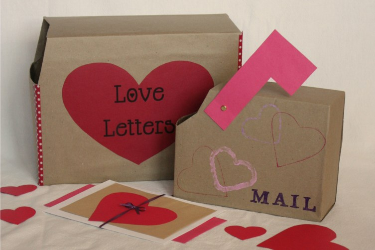 Upcycled Valentine's Day Mailbox
