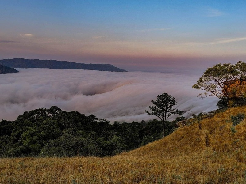 Sea of clouds in the morning
