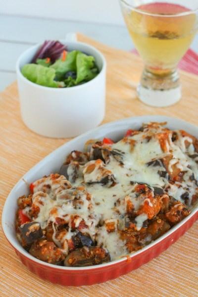 Eggplant Parmesan Quinoa Casserole