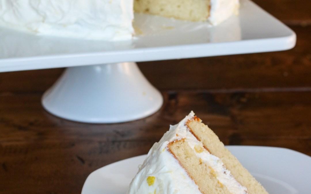 Gluten Free Lemon Cream Cake