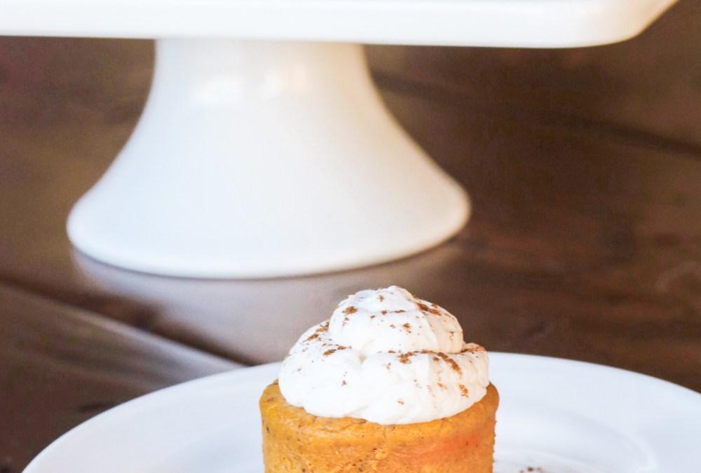 Mini Pumpkin Cheesecakes with Gingersnap Crust {Gluten Free Option}