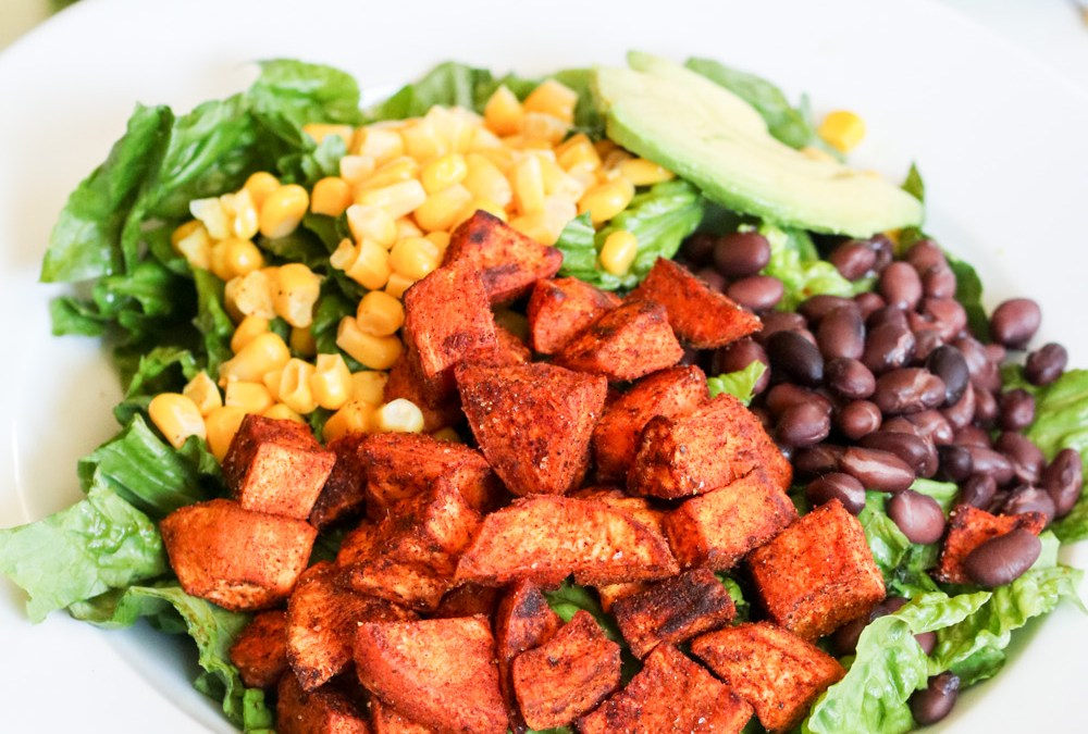 Spicy Southwestern Salad with Cilantro Avocado Dressing