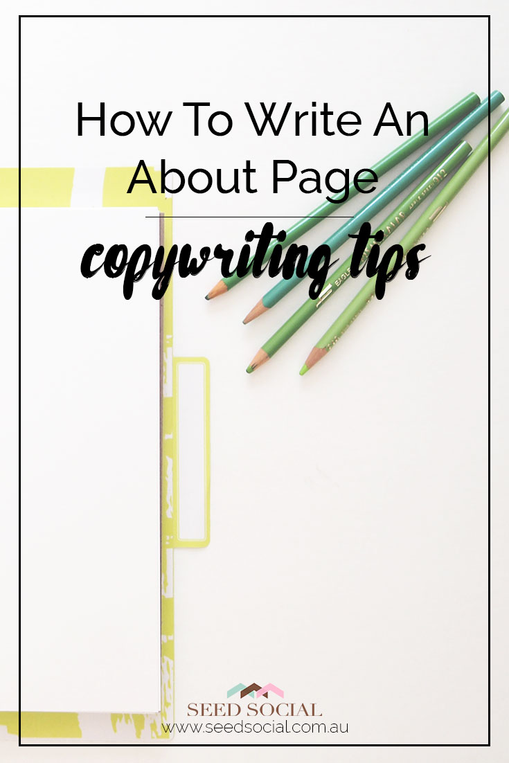 How To Write An About Page Your Clients Will Love, 3 tips to write your about page from Sarah at Spit Fire Scribe