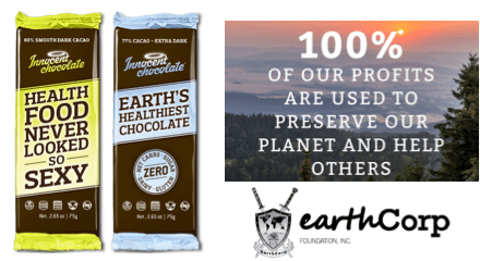 Innocent Chocolate pledges to use 100% of its profits to preserve the planet and help others