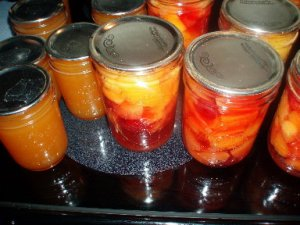 peach butter and canned mixed fruit