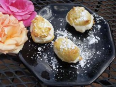 Cream Puffs with Rose Petal-Mascarpone Filling
