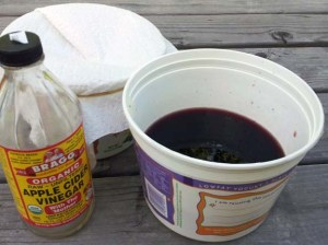 red wine and apple cider vinegar