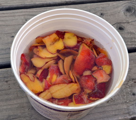 peach peels for vinegar