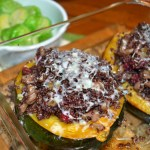 Acorn Squash with Quinoa Cranberry Stuffing