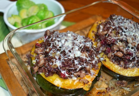 Acorn Squash With Quinoa Cranberry Stuffing Seed To Pantry