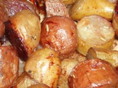 Red Wine Roasted Potatoes