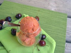 Dairy-Free Cherry Apricot Ice Cream