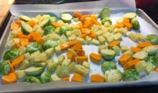 meatless sheet pan dinner