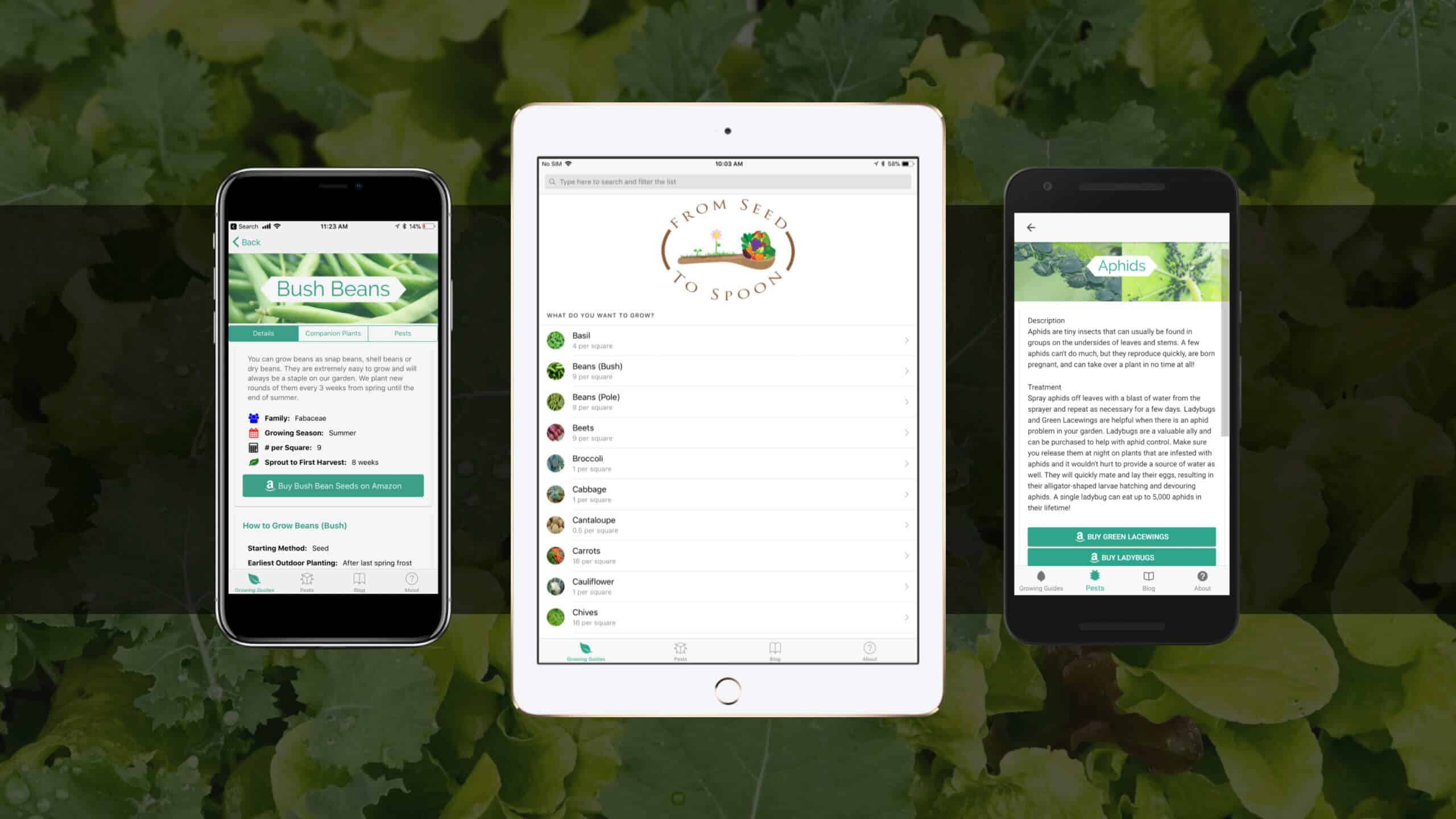 Introducing the FREE From Seed to Spoon Growing Guide Mobile App for iOS and Android!
