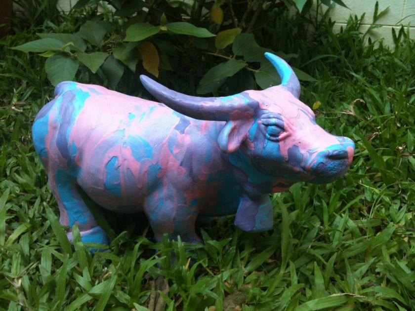 Buffalo abstract paint