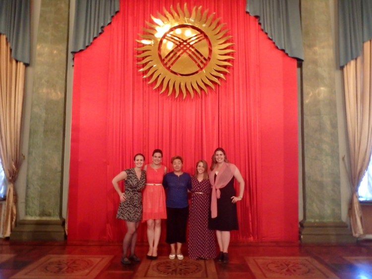 Swearing in as a Peace Corps Volunteer in Kyrgyzstan