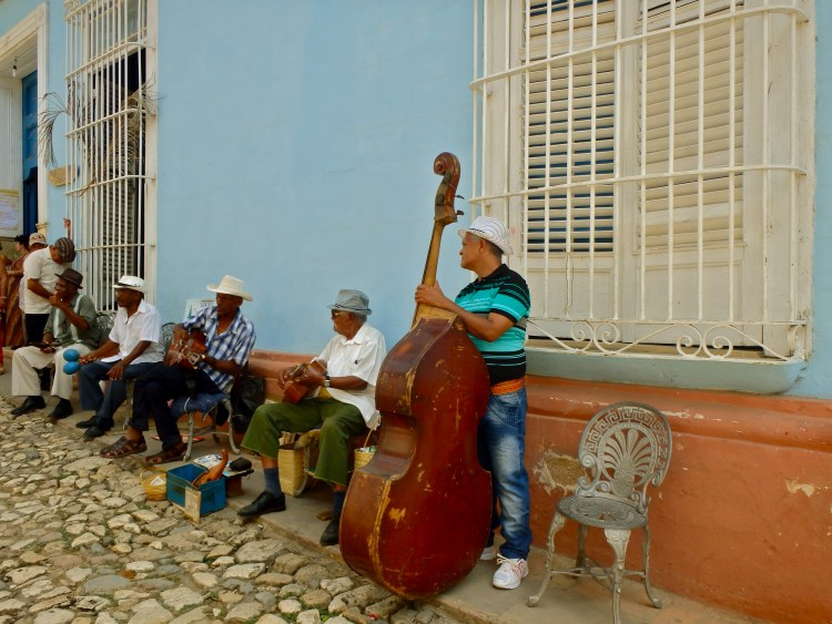 Amazing Music on the streets of Trinidad travel blog where to travel in cuba what accomodation is in cuba for solo travellers
