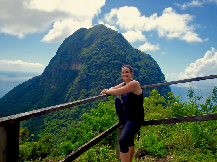 visiting the gros piton during a trip to st. lucia