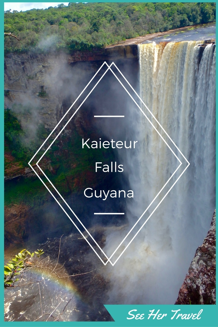 Kaieteur Falls in Guyana are the tallest in the world. Located in the Amazon Jungle, a prop plane flight is the only way to experience this amazing sight! Check out this blog post from www.seehertravel.com about Emily's flightseeing trip to see this amazing natural wonder!