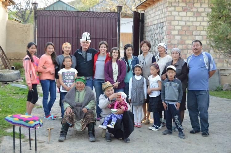 Emma's family in Toktogul