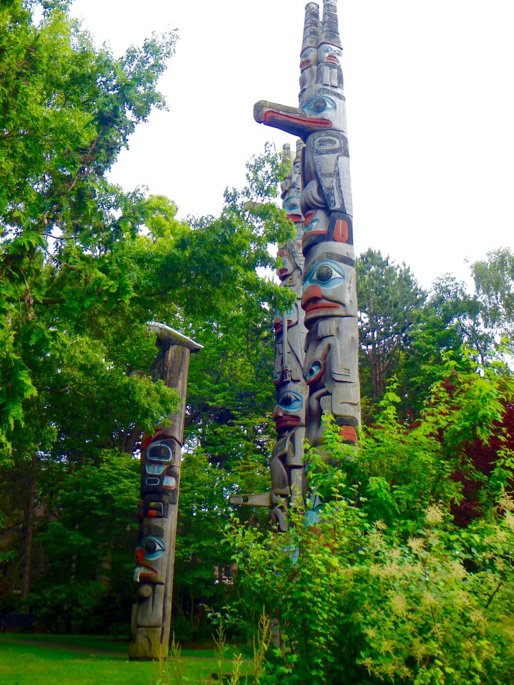 Totem Poles in the Royal BC Museum's Thunderbird Park, Victoria, BC