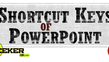 Shortcut Keys of PowerPoint