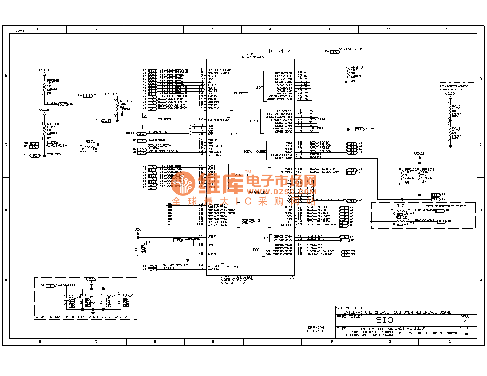 845ddr Computer Motherboard Circuit Diagram 45