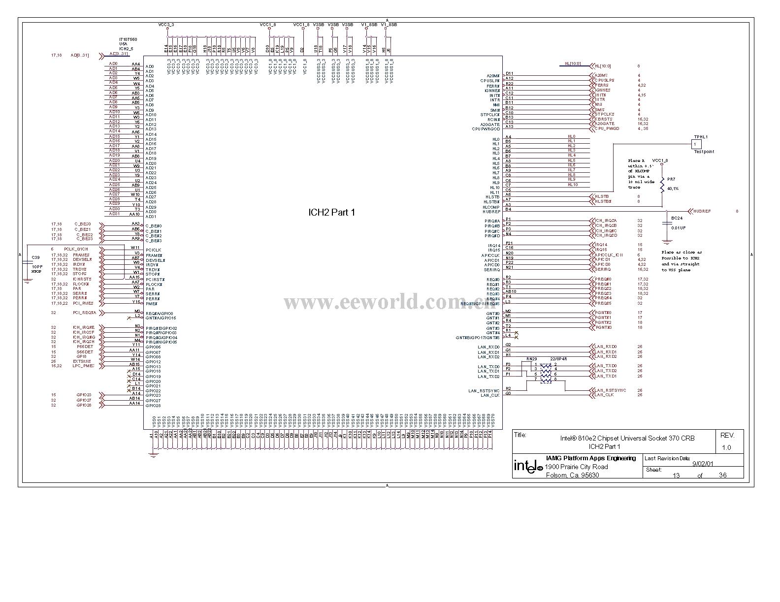 810 Computer Motherboard Circuit Diagram 13